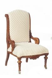 1:12 Scale JBM Miniature 1870 Walnut Restoration Side Chair