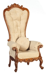 1:12 Scale JBM Miniature Royal Baroque Walnut Chair