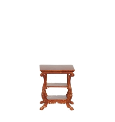 1:12 Scale JBM Miniature 1840 American Victorian Walnut Side Table