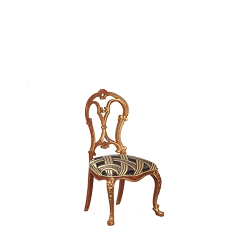 1:12 Scale JBM Miniature French Louis XV Walnut Side Chair