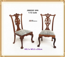 1:12 Scale JBM Miniature 1760 Chippendale Side Chair
