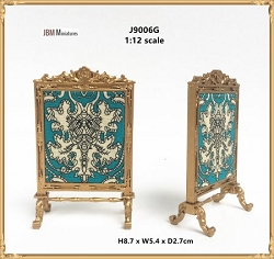 1:12 Scale JBM Miniature Late Victorian Fire Screen