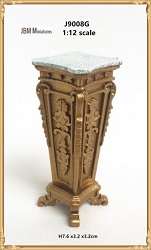 1:12 Scale JBM Miniature 19th C. French Empire Design Rectangular Pedestal