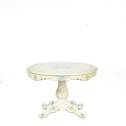 1:12 Scale JBM Miniature White & Floral Dining Table