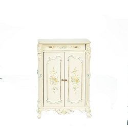 1:12 Scale JBM Miniature White & Floral Armoire