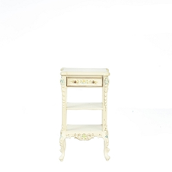 1:12 Scale JBM Miniature White & Floral Serving Cart
