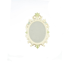 1:12 Scale JBM Miniature White & Floral Mirror
