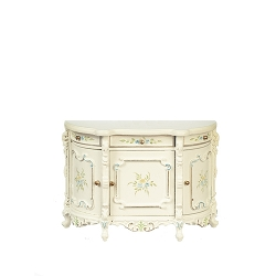 1:12 Scale JBM Miniature White & Floral Buffet Table