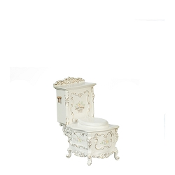 1:12 Scale JBM Miniature Hand Painted Baroque Style Toilet