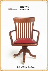 1:12 Scale JBM Miniature 19th C. Walnut Office Chair