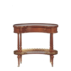 1:12 Scale JBM Miniature Curved Walnut Tray Table