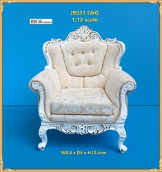 1:12 Scale JBM Miniature 18th C. Louis XV Living Chair