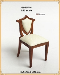 1:12 Scale JBM Miniature Vintage Walnut Dressing Table Chair