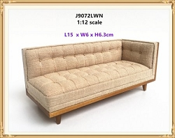 1:12 Scale JBM Miniature Modern Mid-Century Sectional