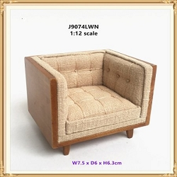1:12 Scale JBM Miniature Modern Mid-Century Tub Style Chair