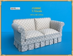 1:12 Scale JBM Miniature Modern Country Overstuffed Sofa