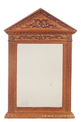 1:12 Scale JBM Miniature Hand-Carved Walnut Mirror