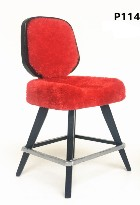 1:12 Scale JBM Miniature Modern Red on Black Stool