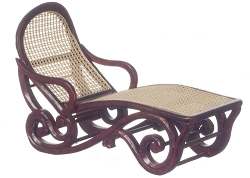 1:12 Scale Platinum Miniature Safari Lounge Chair (Mahogany)