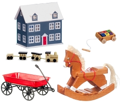1:12 Scale Miniature Dollhouse Toy Bundle