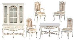 1:12 Scale Platinum Miniature Barrington Dining Collection (White)