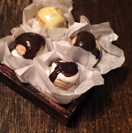 1:12 Scale Miniature Double Stacked Chocolate Cream Puffs