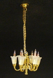 1:24 Scale Cir-Kit Miniature 6-Arm Tulip Chandelier