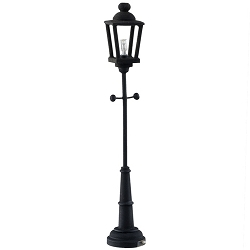 1:12 Scale Houseworks Miniature LED Black Yard Lamp