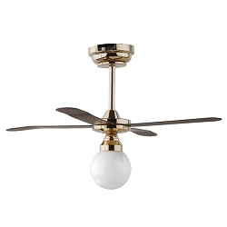 1:12 Scale Houseworks Miniature LED White Globe Ceiling Fan