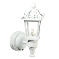 1:12 Scale Houseworks Miniature LED White Carriage Lamp