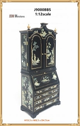 1:12 Scale JBM Miniature Chinoiserie Secretary Desk