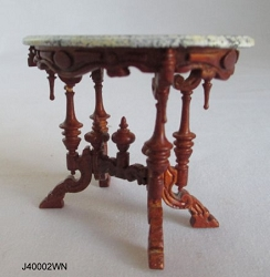 1:12 Scale JBM Miniature Victorian Tea Table - Walnut