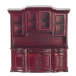 1:12 Scale JBM Miniature China Display Cabinet - Mahogany