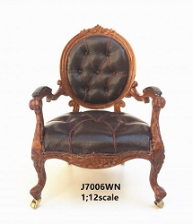 1:12 Scale JBM Miniatures  George III Round Back Open Armchair