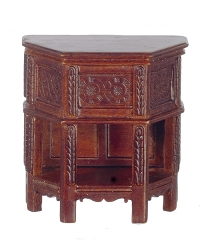 1:12 Scale JBM Miniature 16th c. Walnut Tudor Side Cabinet
