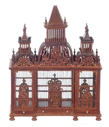 1:12 Scale JBM Miniature Victorian Walnut Bird Cage