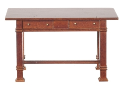1:12 Scale JBM Miniature Mission Walnut Kitchen Table