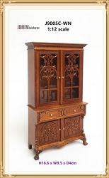 1:12 Scale JBM Miniature 1760 2-Door Display Cabinet