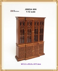 1:12 Scale JBM Miniature 1760 Breakfront China Cabinet