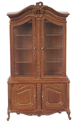 1:12 Scale JBM Miniature Louis XV Walnut Display Cabinet