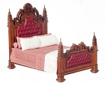 1:12 Scale JBM Miniature 19th C. Gothic Panelled Bed
