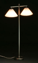 1:12 Scale Miniature House Miniature Modern 2-Arm Down Shade Floor Lamp