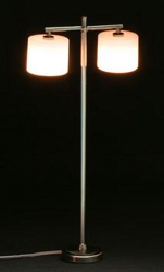 1:12 Scale Miniature House Miniature Modern 2-Arm Down Cyl. Floor Lamp
