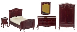 1:12 Scale Platinum Miniature Chateau Lorraine Bedroom Collection (Mahogany)