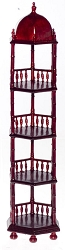 1:12 Scale Platinum Miniature English Mahogany Conservatory Etagere