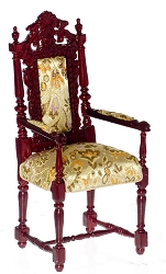 1:12 Scale Platinum Miniature Grand Occasion Mahogany Chair