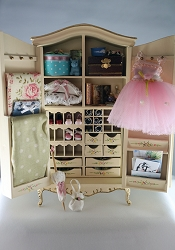 1:12 Scale Vintage Modern Miniature Teen Dream Armoire