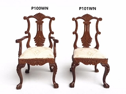 1:12 Scale JBM Miniature Georgian Dining Chair Collection