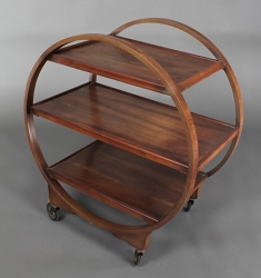 1:12 Scale JBM Miniature Walnut Art Deco Trolley