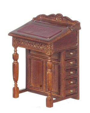 1:12 Scale JBM Miniature 18th c. Davenport Desk (Walnut)